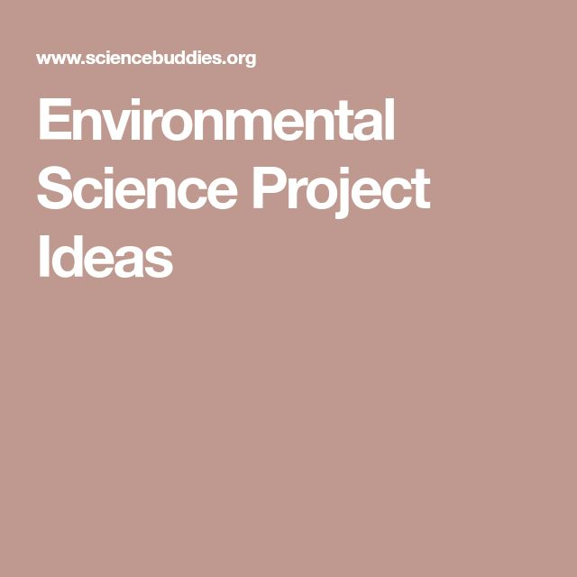 environmental science research project ideas
