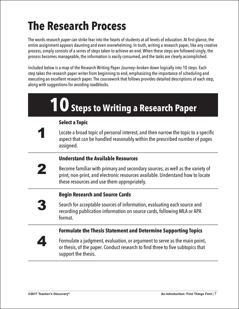 6 step research process