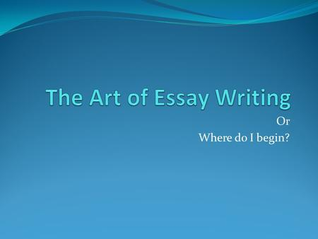 What is academic writing? - OWLL - Massey University