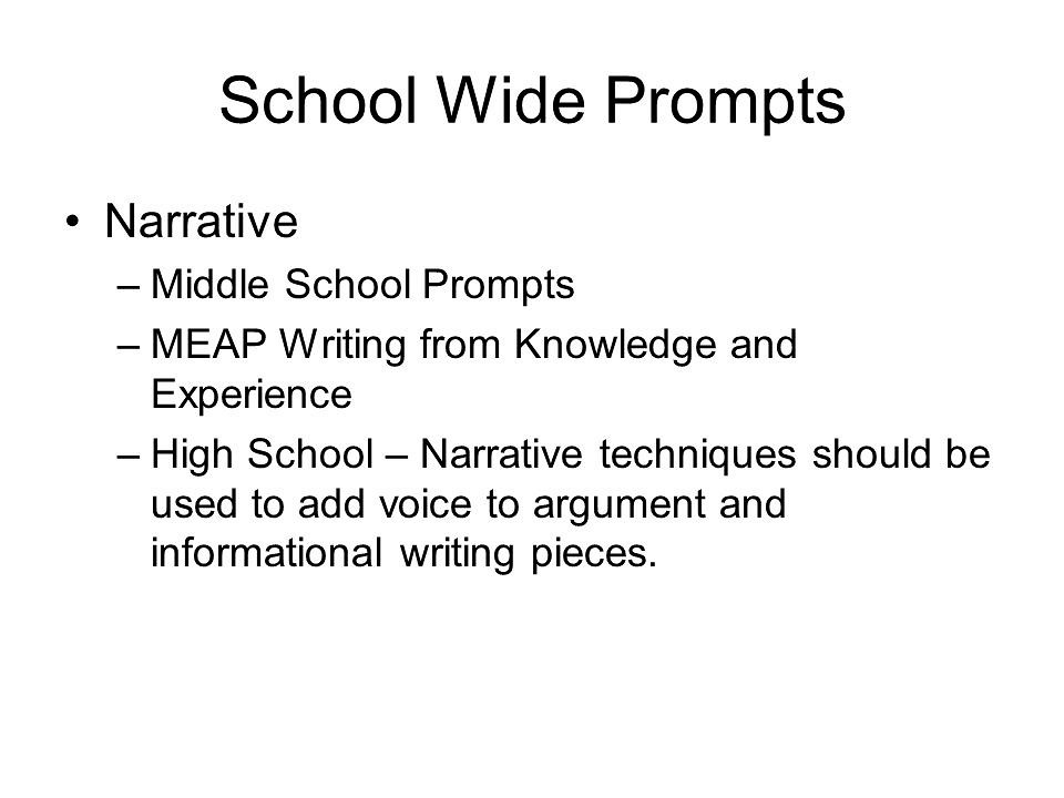 Sample Essay Topics For Middle School
