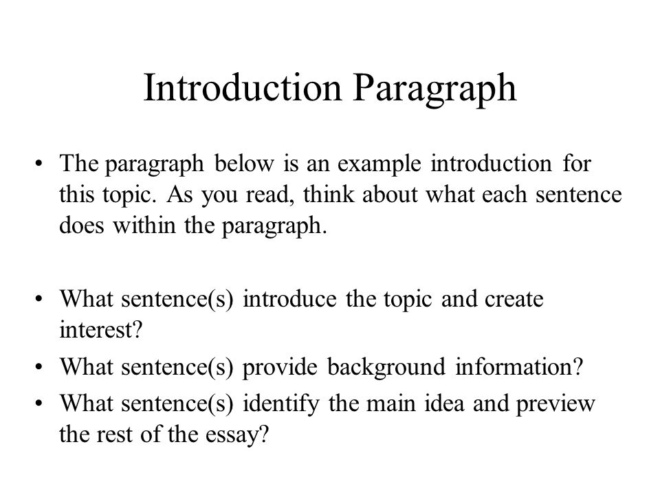 Introduction essay examples good