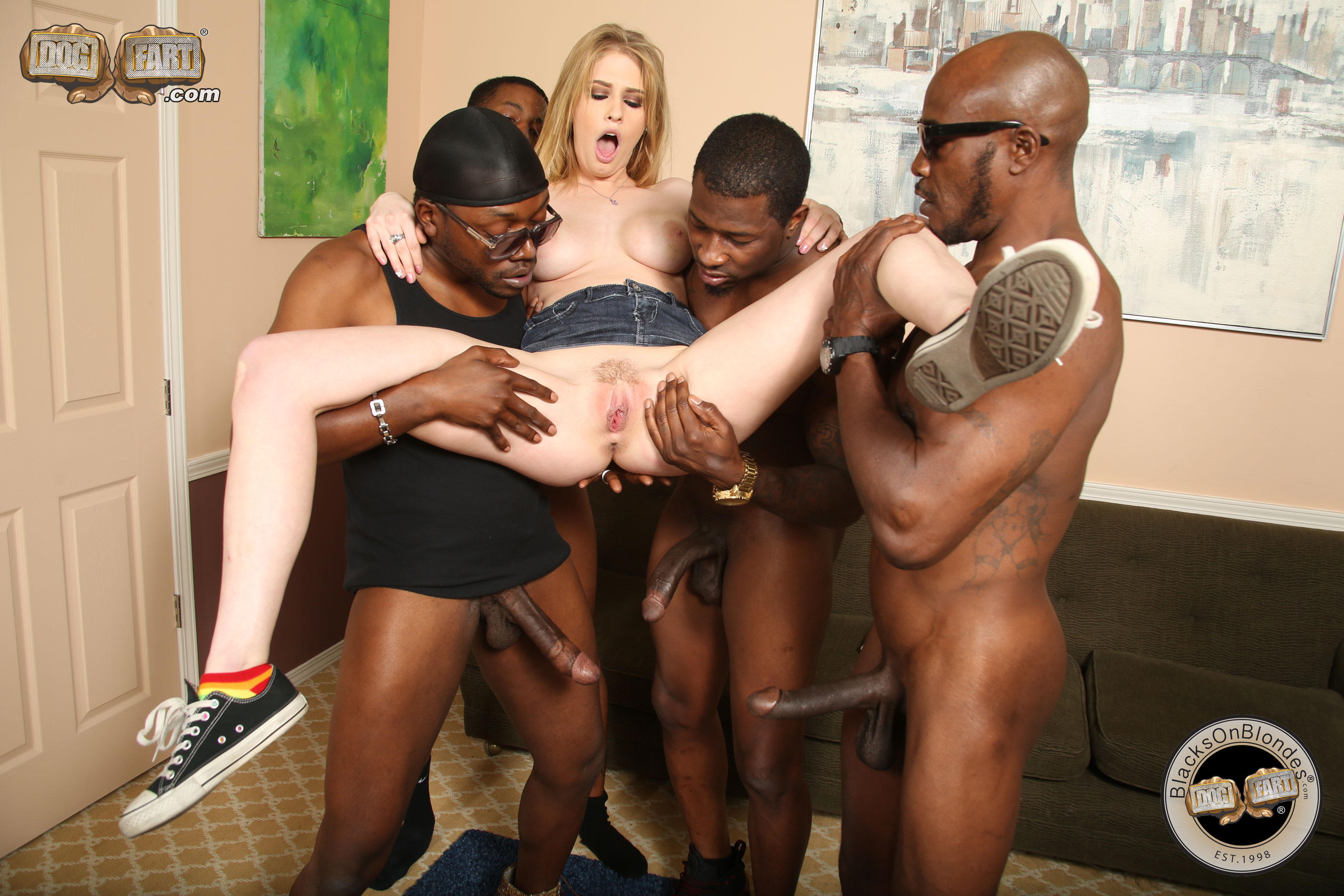 Hardcore sex blonde interracial
