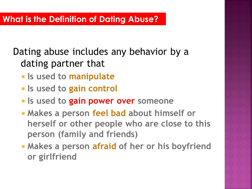 Dating definition