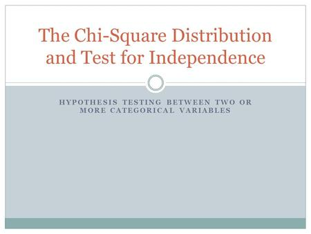 Chi-Square Test - Statistical Hypothesis Testing - Chi