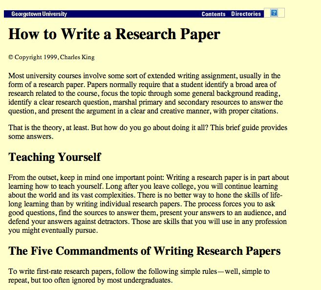 Write my how to write the best research paper
