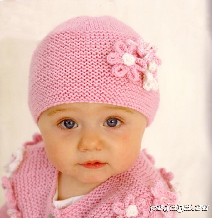 фото детских вязаных шапочек