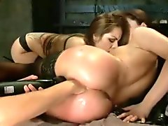 Hairy brunette pussy video