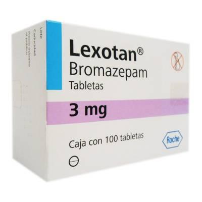 Lexotanil bromazepam 3mg roche