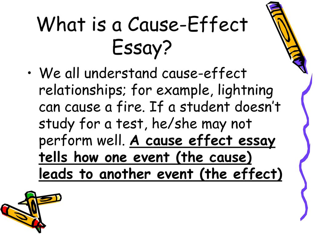 Good Cause and Effect Essay Topics—Students' Choice