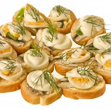 Рецепт Бутерброды сперепелиными яйцами