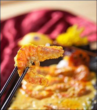 Рецепт Креветки сананасами вкокосовом соусе скарри