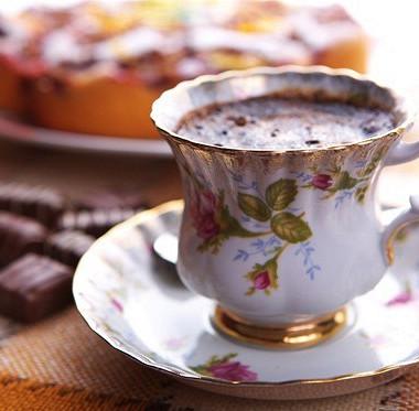 Рецепт Горячий шоколад слесными ягодами