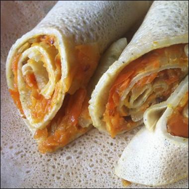 Рецепт Блины соленые сморковной начинкой
