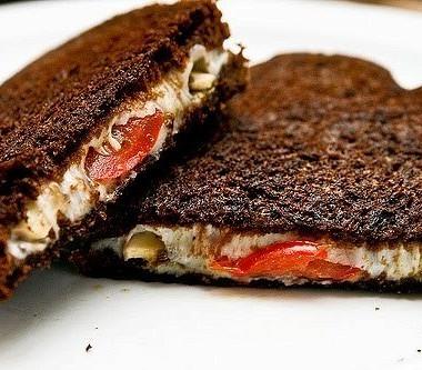 Рецепт Итальянский бутерброд ссыром игрибами