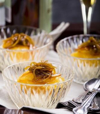 Рецепт Ванильный рисовый пудинг сглазированными апельсинами