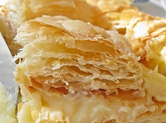 Слоеное тесто рецепт наполеона пошаговый