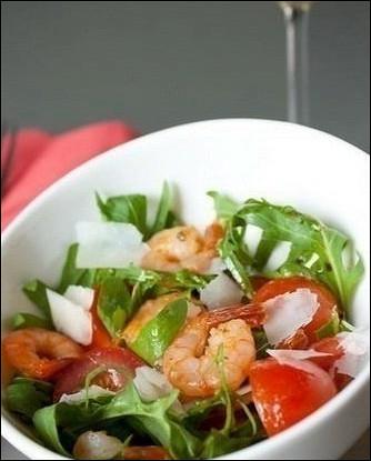 рецепт креветки с рукколлой салат