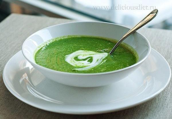 как приготовить протертый суп из шпината