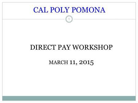 Cal poly pomona loan disbursement
