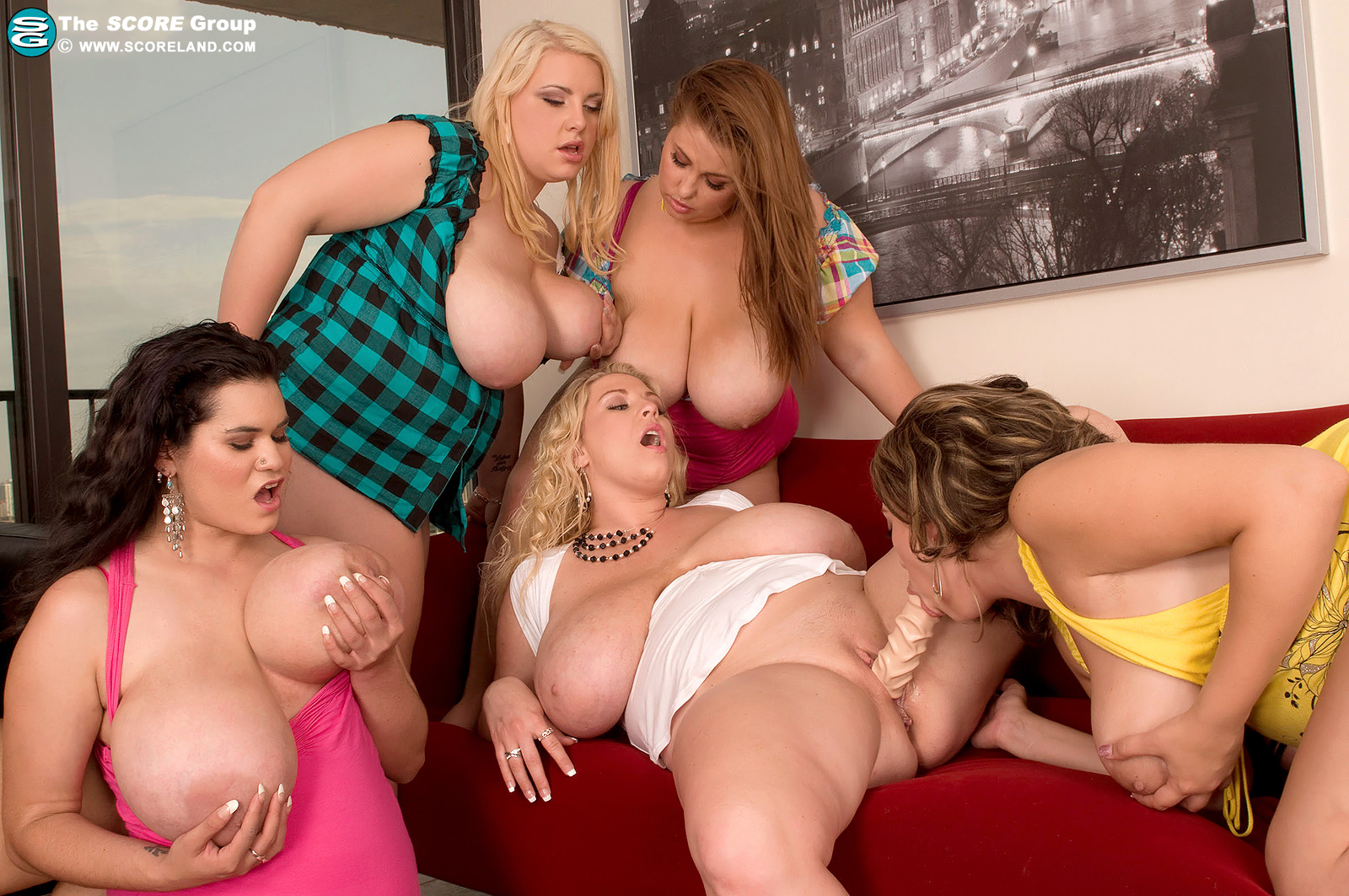 Big tit mature blonde group sex — 3