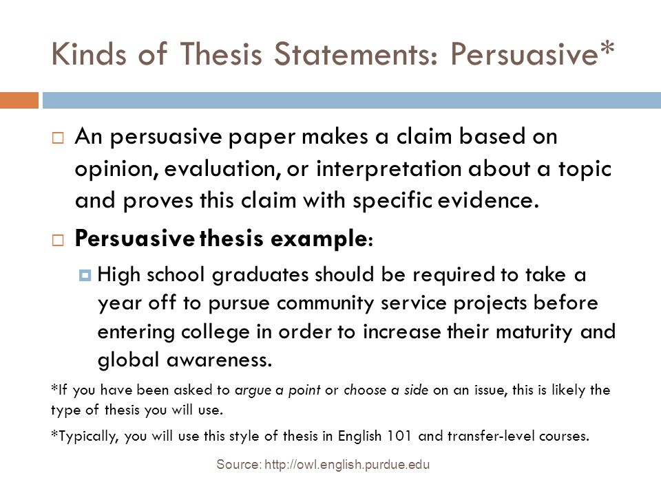 Developing a Thesis Statement and Outline - TAMIU