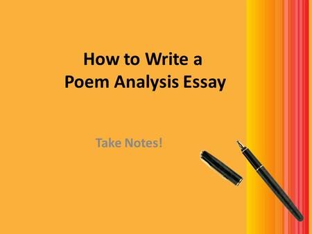 Write my poetry essay sample