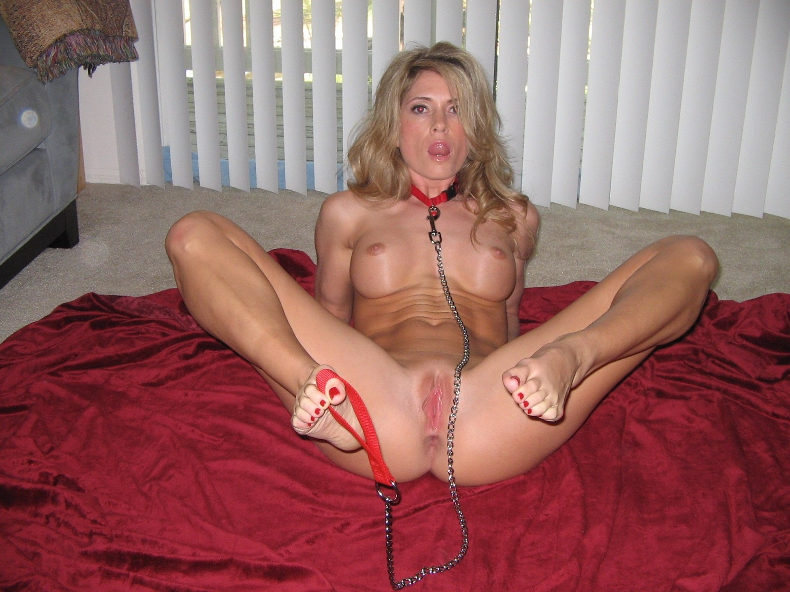 Blonde big tits bondage
