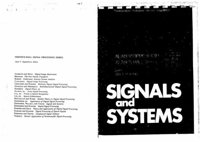 Oppenheim Signals and Systems Pdf Free Download