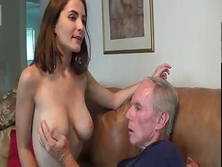 Busting girl gving hand job nut