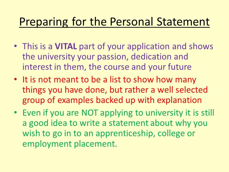 UCAS Personal statement samples
